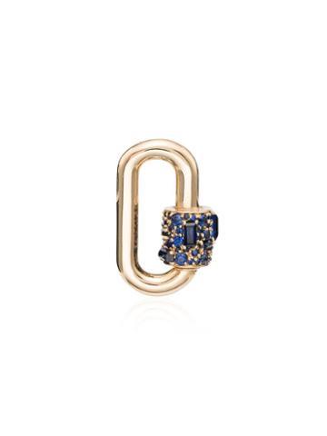 Marla Aaron Sapphire Lock Charm - Metallic