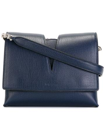 Jil Sander Classic Cross Body Bag, Women's, Blue, Calf Leather