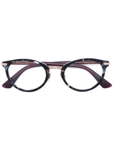 Dior Eyewear - Round Frame Glasses - Women - Acetate/metal (other) - 49, Brown, Acetate/metal (other)