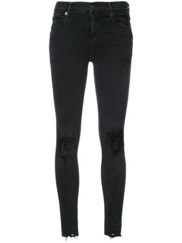 Agolde Sophie Skinny Ripped Jeans - Black