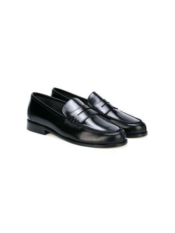 Prosperine Kids Leather Slip-on Loafers - Black