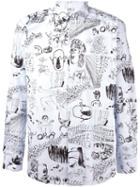 Comme Des Garçons Shirt Scribble Print Shirt