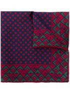 Gucci Geometric G Print Pocket Square - Blue