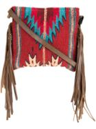 Manos Zapotecas Aztec Shoulder Bag, Women's, Red