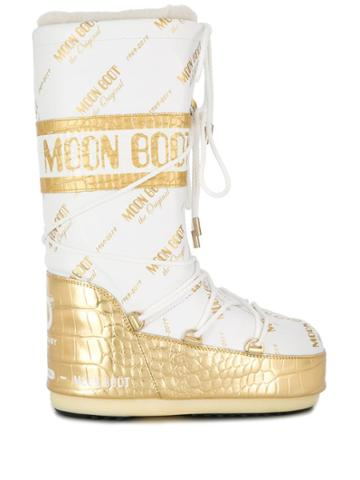 Moon Boot Two Tone Moon Boots - White