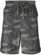 Helmut Lang Camouflage Print Shorts