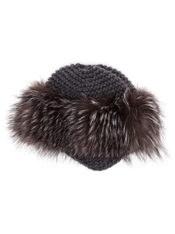 Inverni Fur Trim Beanie - Grey