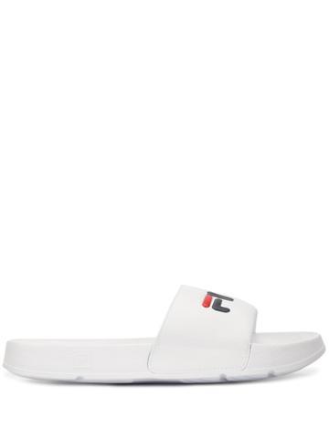 Fila Logo Pool Slides - White