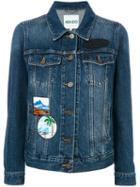 Kenzo - Denim Jacket With Patches - Women - Cotton - S, Blue, Cotton