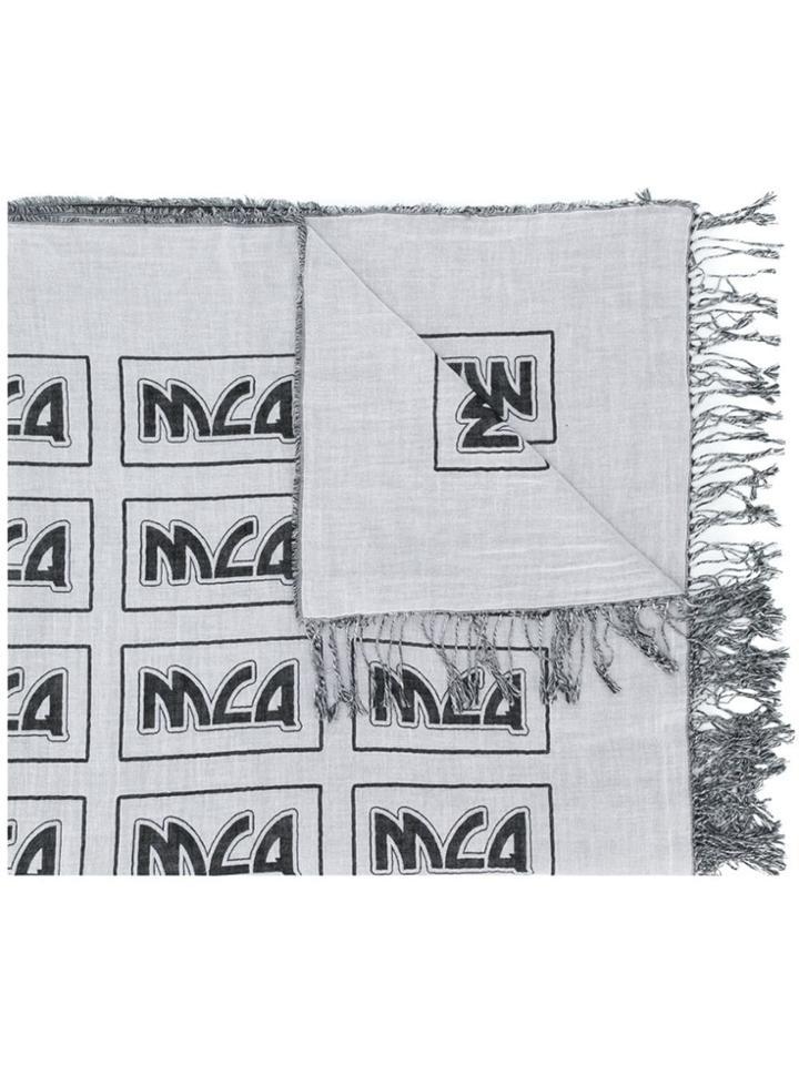 Mcq Alexander Mcqueen Logo Scarf - Grey