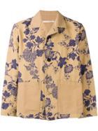 Ermanno Gallamini Floral Print Shirt Jacket - Neutrals