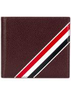 Thom Browne Bifold Leather Wallet - Red