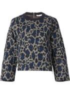 Sacai Leopard Print Sweatshirt
