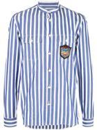 Balmain Logo Patch Shirt - Blue