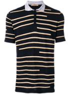 Nuur Striped Patterned Polo Shirt - Blue