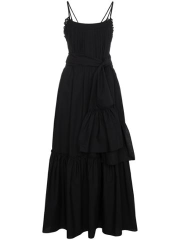 Three Graces Ariadne Pin-tucked Dress - Black