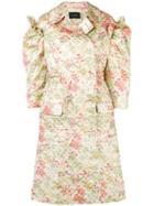 Simone Rocha Floral Brocade Coat - Green