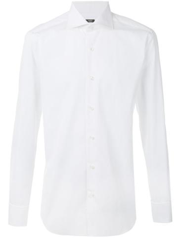 Barba - Classic Shirt - Men - Cotton - 43, White, Cotton