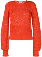 See By Chloé Open Knit Jumper - Orange