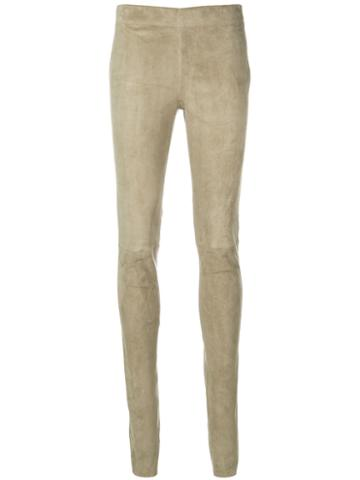 Joseph - Skinny Leggings - Women - Lamb Skin/cotton/spandex/elastane - 40, Green, Lamb Skin/cotton/spandex/elastane