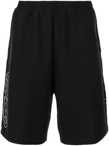 Heron Preston Logo Print Loose Fit Track Shorts - Black