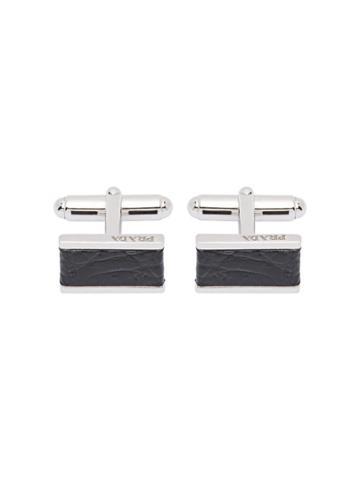 Prada Silver Cufflinks - Black