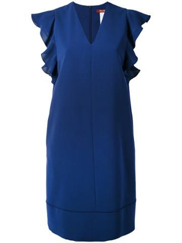 Max Mara Studio - Trofeo Dress - Women - Polyester/acetate/triacetate - 44, Blue, Polyester/acetate/triacetate