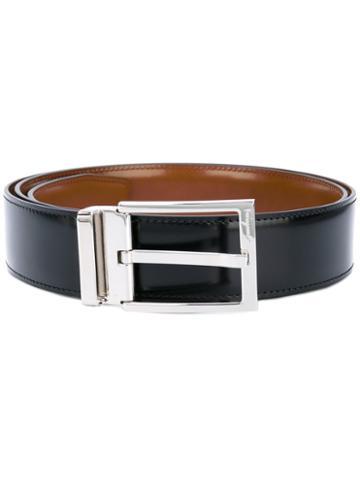 Salvatore Ferragamo - Classic Buckled Belt - Men - Calf Leather - 100, Black, Calf Leather