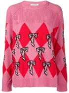 Vivetta Argyle Knit Jumper - Pink