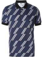 Msgm Stripe Print Polo Shirt