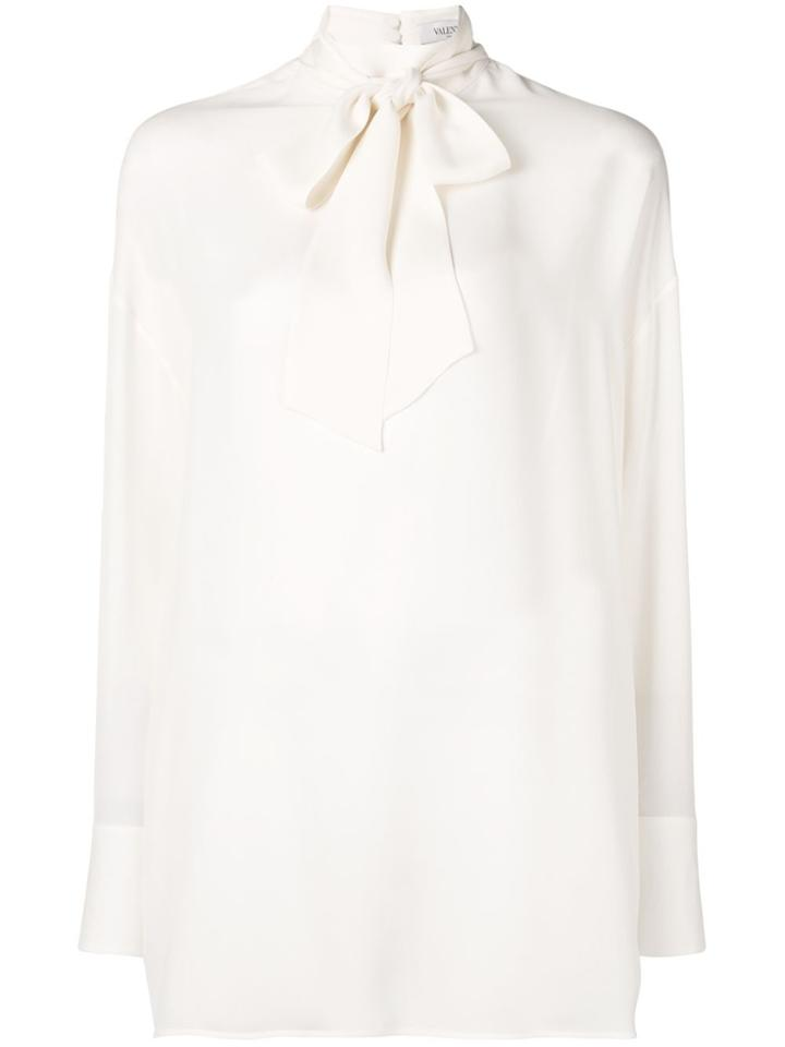 Valentino Pussybow Blouse - White