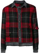 Overcome Check Pattern Jacket - Red