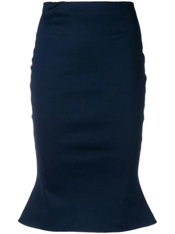 Moschino Vintage Peplum Fitted Skirt - Blue