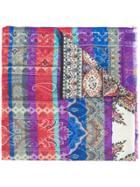 Etro Mixed Paisley Print Scarf - Multicolour