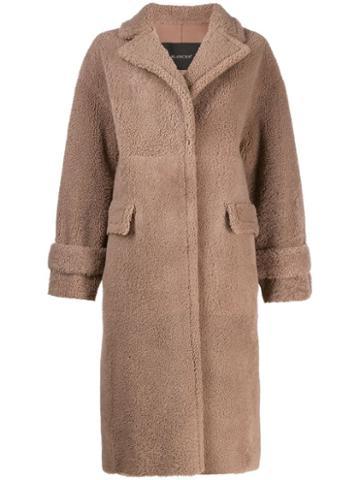 Blancha Shearling Coat - Neutrals