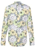 Prada Floral Buttondown Shirt - Grey