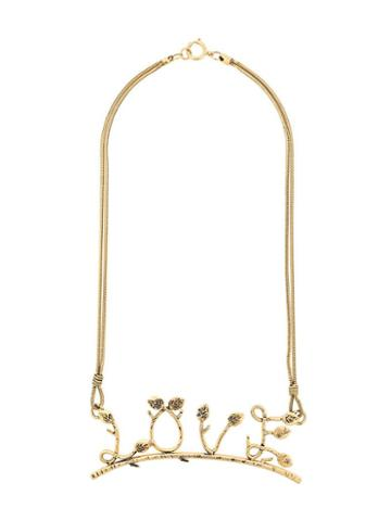 Moschino Pre-owned Love Necklace - Gold
