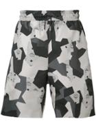 Christopher Raeburn - Geometric Print Shorts - Men - Cotton - M, Grey, Cotton