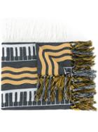 Undercover Striped Scarf, Adult Unisex, Cotton