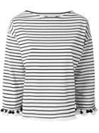 Moncler Striped Top - Neutrals