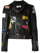 Saint Laurent Patchwork Biker Jacket