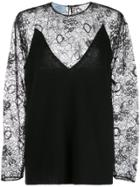 Prada Lace Sheer Top - Black