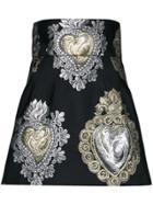 Dolce & Gabbana Sacred Heart Embroidered Skirt - Black