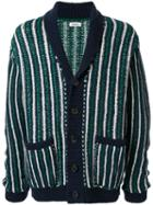 Coohem Striped Cardigan - Green