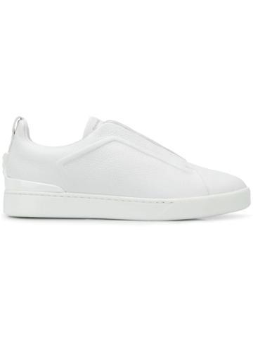 Ermenegildo Zegna Criss Cross Laces Sneakers - White