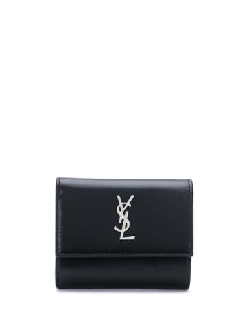 Saint Laurent Trifold Logo Wallet - Black