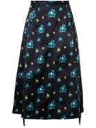 Toga Floral Print Midi Skirt