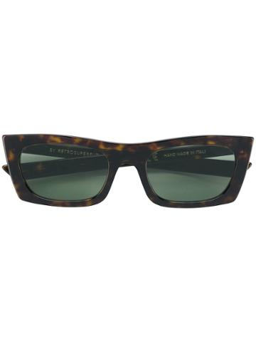 Retrosuperfuture Fred Rectangular Frame Sunglasses - Brown