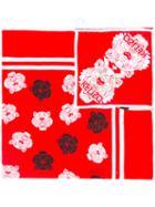 Kenzo Tiger Print Scarf, Women's, Red, Silk/cotton