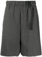 Nike Belted Check Shorts - Black